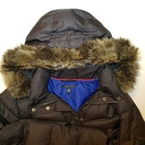 Tommy Hilfiger Down Filled Fur Trim Puffer Jacket